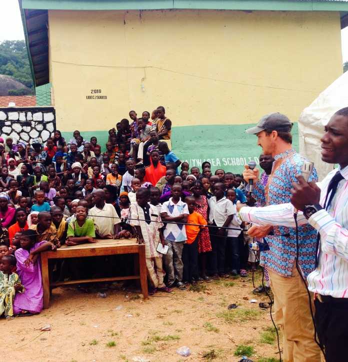 Nick's talk to children's camp on fishing for men